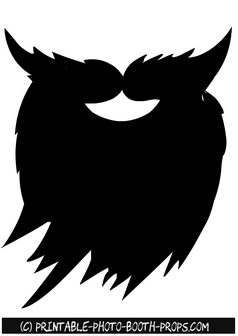 Free Printable Beard and Moustaches Photo Booth Prop