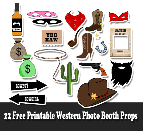 22 Free Printable Western Party Photo Booth Props