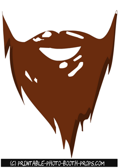 Free Printable Beard Prop