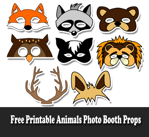 graphic relating to Printable Images of Animals named No cost Printable Pets Image Booth Props