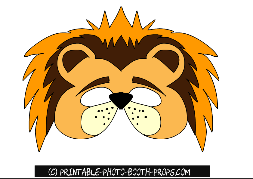 image relating to Printable Lion Masks referred to as Free of charge Printable Pets Picture Booth Props