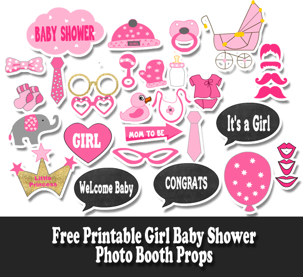 photo about Girl Printable named Absolutely free Printable Woman Boy or girl Shower Photograph Booth Props