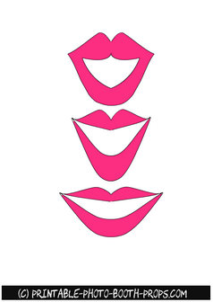 Free Printable Lips Props for Girl Baby Shower
