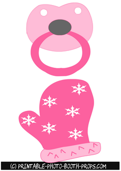Free Printable Pacifier and Mitt Props
