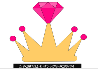 Free Printable Crown Prop for Bride to Be