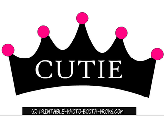 Free Printable Cutie Crown Prop for Bachelorette Party