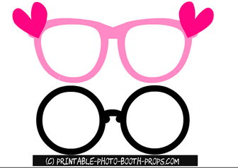 Free Printable Glasses Props for Bachelorette Party