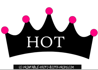 Free Printable Hot Prop for Bachelorette Party Photo Booth