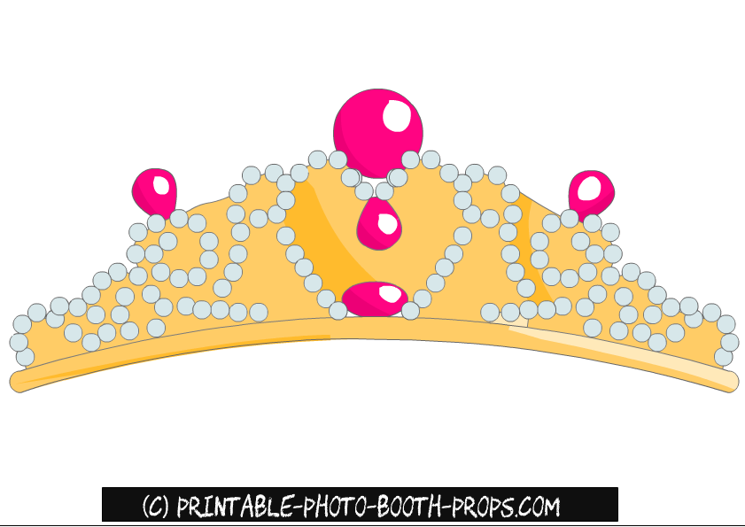 photo relating to Printable Tiaras identify Absolutely free Printable Bachelorette Celebration Image Booth Props