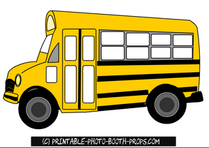 Free printable school bus photo booth prop