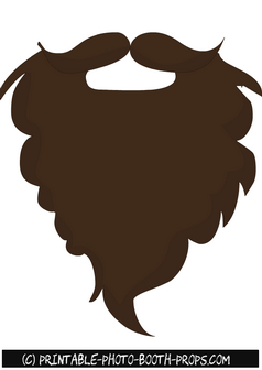 Free Printable Brown Beard Photo Booth Prop