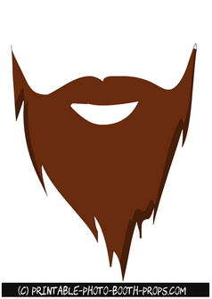 Pointed Brown Beards Photo Booth Prop