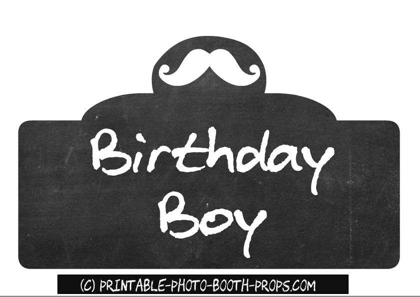 Free Printable Birthday List ~ Free printable birthday party photo booth props