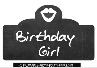 Birthday Girl Photo Booth Prop