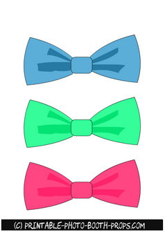 Free Printable Colorful Bow Ties Props