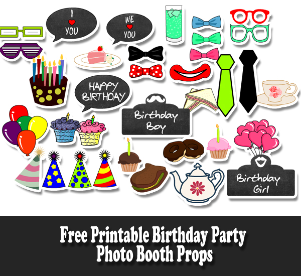 free printable birthday party photo booth propsjpg