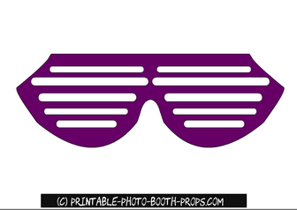 Free Printable Purple Glasses Prop