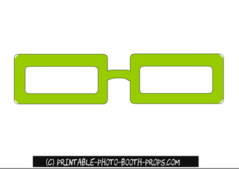 Free Printable Green Glasses Photo Booth Prop