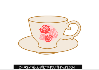 Free Printable Tea Cup Prop for Photo Booth
