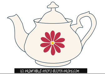 Tea Pot Photo Booth Props
