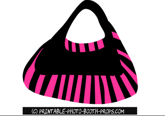 Black and Pink Hand Bag Prop