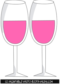 Free Printable Wine Glasses Props