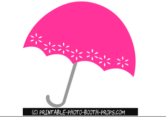 Free Printable Pink Umbrella Photo Booth Prop