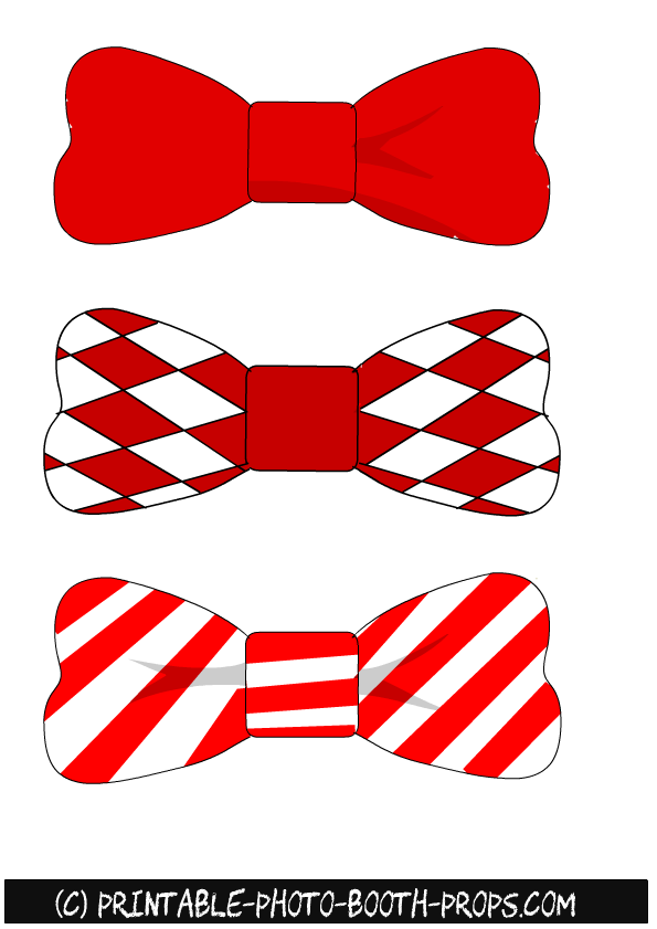 Free Printable Christmas Bow Ties Photo Booth Props