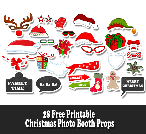 picture relating to Christmas Photo Props Printable named Absolutely free Printable Xmas Picture Booth Props