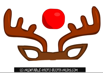 Free Printable Rudolph Photo Booth Prop
