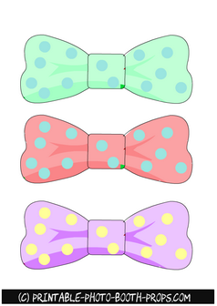 Easter Bow Ties Photo Booth Props