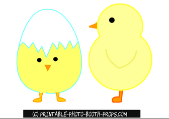 Easter Chicks Props