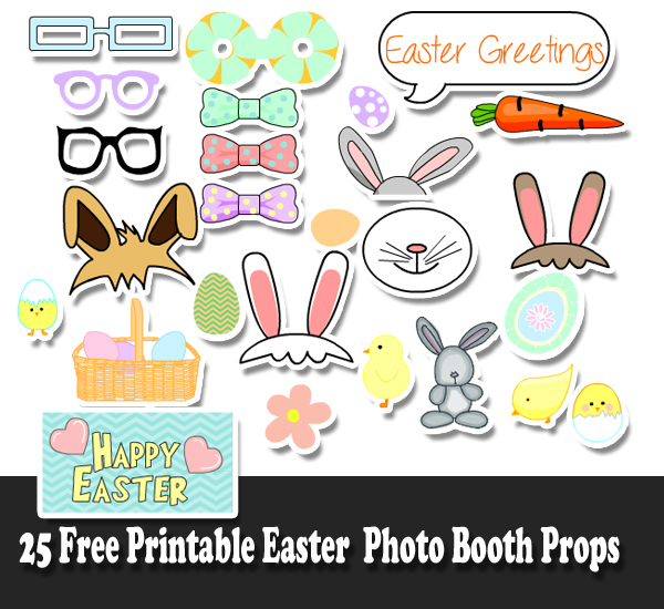 25 Free Printable Easter Photo Booth Props