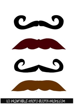 Free Printable Colorful Moustaches Photo Booth Props