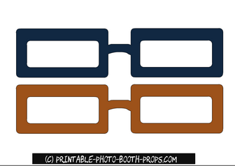 Free Printable Glasses Props for Father's Day