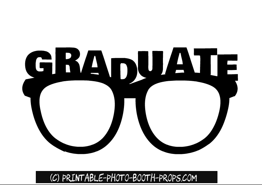 graphic regarding Graduation Photo Booth Props Printable known as Totally free Printable Commencement Image Booth Props