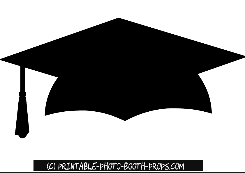 image regarding Graduation Cap Template Free Printable identify Absolutely free Printable Commencement Image Booth Props