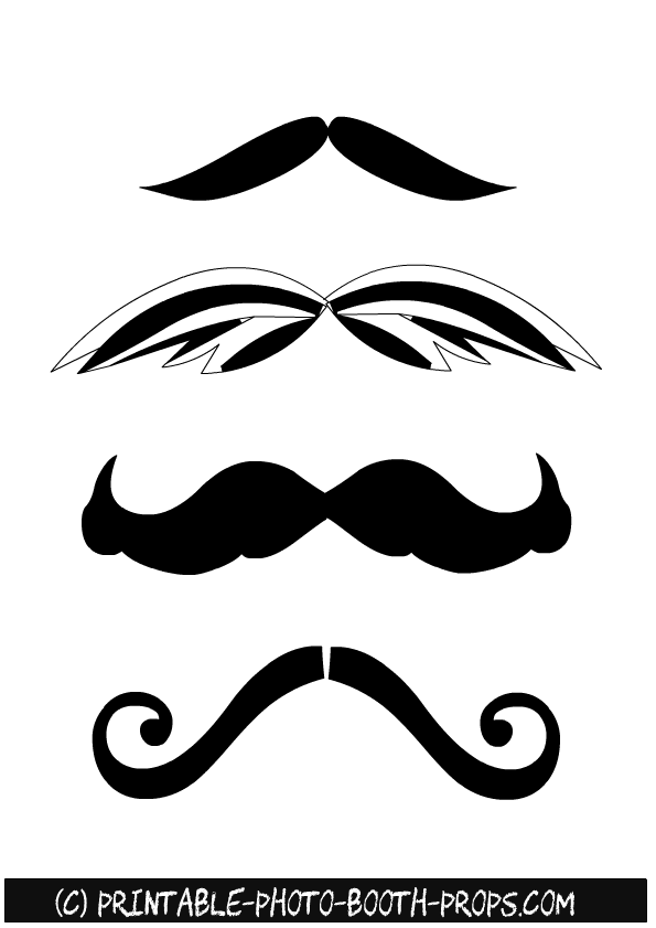 graphic regarding Printable Moustaches referred to as Cost-free Printable Commencement Picture Booth Props
