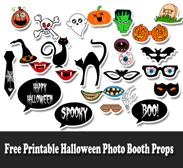 photo about Free Halloween Printable known as Absolutely free Printable Halloween Photograph Booth Props