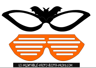 Free Printable Glasses Props for Halloween