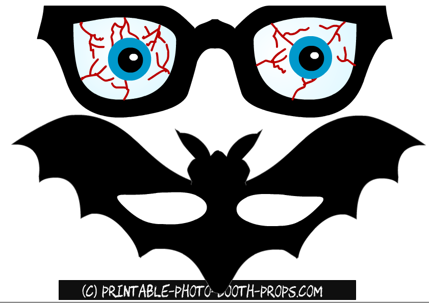 photograph about Printable Eye called Absolutely free Printable Halloween Picture Booth Props