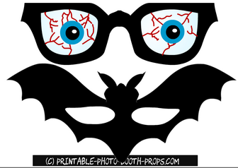 Scary Glasses with Eye Balls Prop