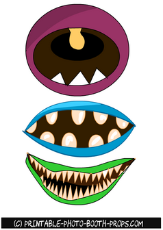 Free Printable Monster Mouths Photo Booth Props