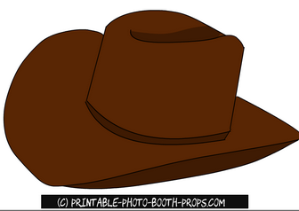 Free Printable Cow Boy Hat Prop