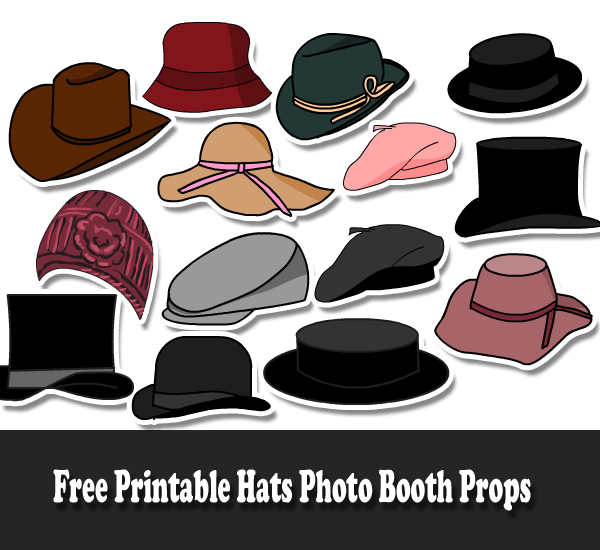 Free Printable Hats Photo Booth Props