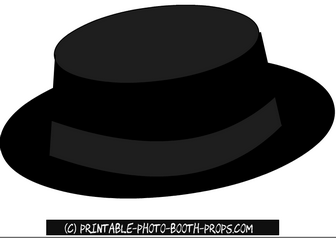 Black Hat Prop Printable for Photo Booth