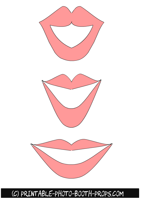 photo relating to Printable Smile titled Free of charge Printable Lips Image Booth Props