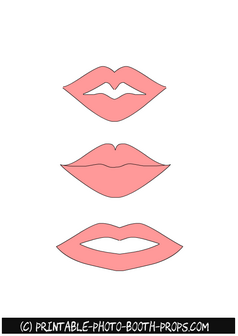 Lips Props Printables in Light Pink Color