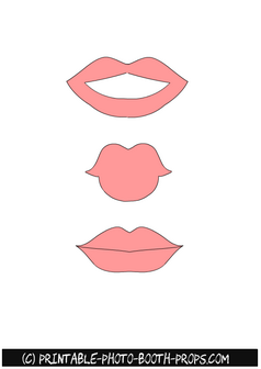Three Free Printable Light Pink Lips Props