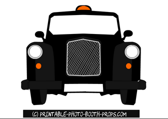Free Printable London Taxi Photo Booth Prop